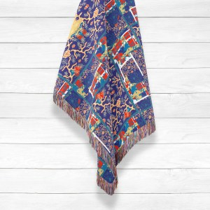 Fractile Flower with Face Woven Throws