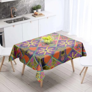 The Reverse Square Patch Table Cloth