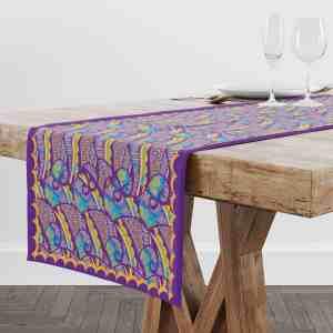 Henna Flower Table Runner
