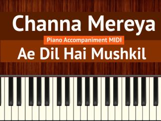 Channa Mereya Piano Accompaniment MIDI