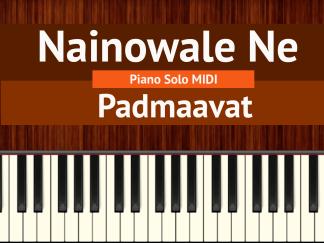 Nainowale Ne Piano Solo MIDI