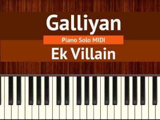 Galliyan Piano Solo MIDI