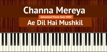 Channa Mereya Advanced Piano Solo MIDI