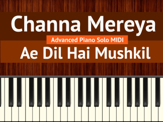 Channa Mereya Advanced Piano Solo MIDI