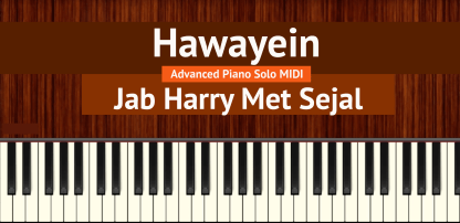 Hawayein Advanced Piano Solo MIDI