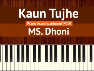 Kaun Tujhe Piano Accompaniment MIDI