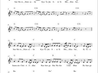 Humsafar flute / violin notes