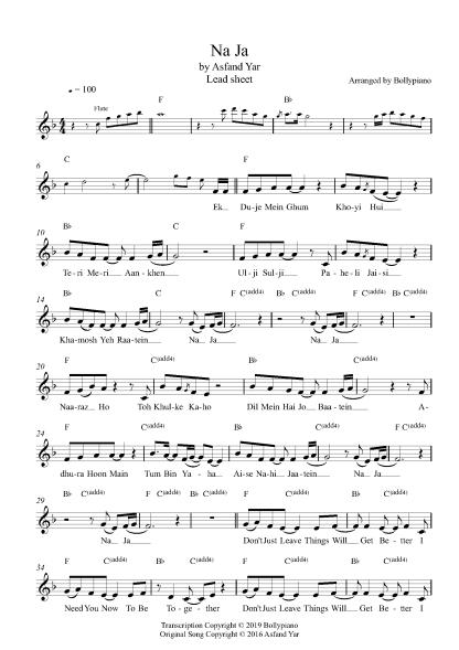 Na Ja flute / violin notes