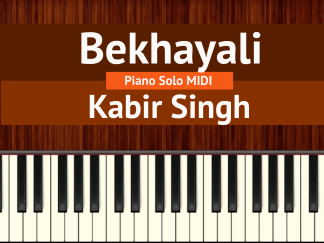 Bekhayali piano solo MIDI