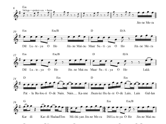 Dil Luteya flute / violin notes