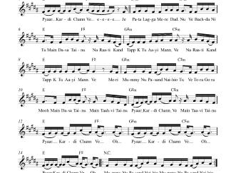 Jaani Tera Naa flute / violin notes