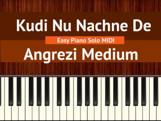 Kudi Nu Nachne De Easy Piano Solo MIDI