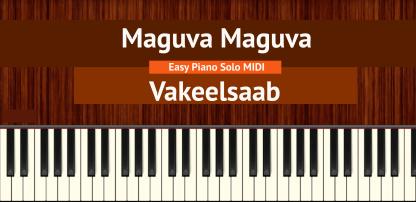 Maguva Maguva - Vakeelsaab Easy Piano Solo MIDI