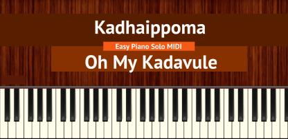 Kadhaippoma - Oh My Kadavule Easy Piano Solo MIDI