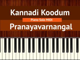 Kannadi Koodum - Pranayavarnangal Piano Solo MIDI