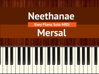 Neethanae - Mersal Easy Piano Solo MIDI