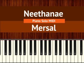 Neethanae - Mersal Piano Solo MIDI