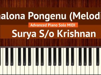 Naalona Pongenu - Surya S_o Krishnan Advanced (Melodious) Piano Solo MIDI