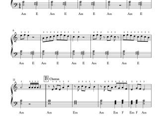 Sangeetha Megam - Udhaya Geetham easy piano notes