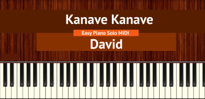 Kanave Kanave - David Easy Piano Solo MIDI