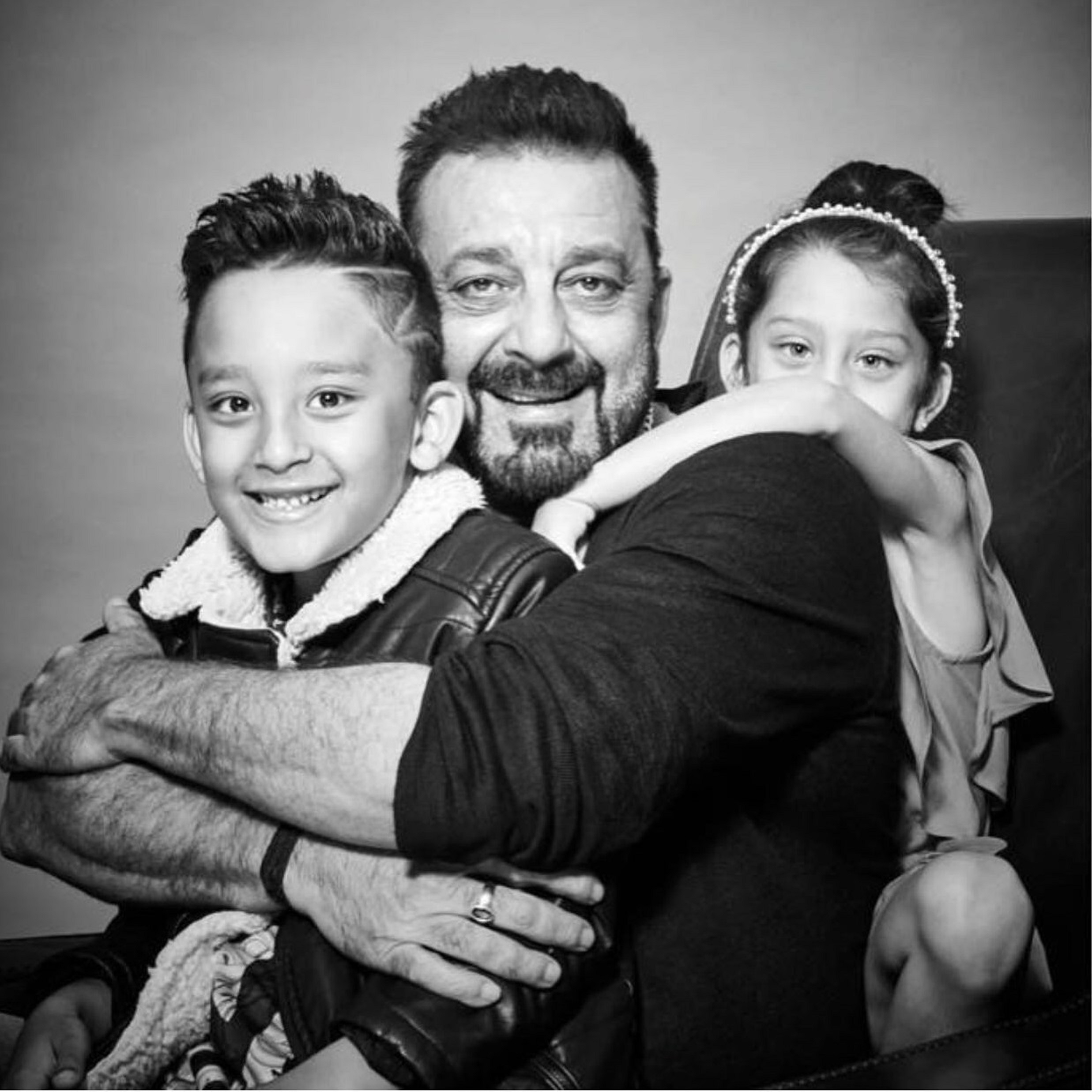 Sanjay Dutt looks absolutely adorable in a photoshoot with his kids!