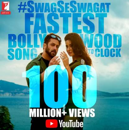 'Swag Se Swagat' is Fastest Bollywood Song to Hit 100 Million plus views
