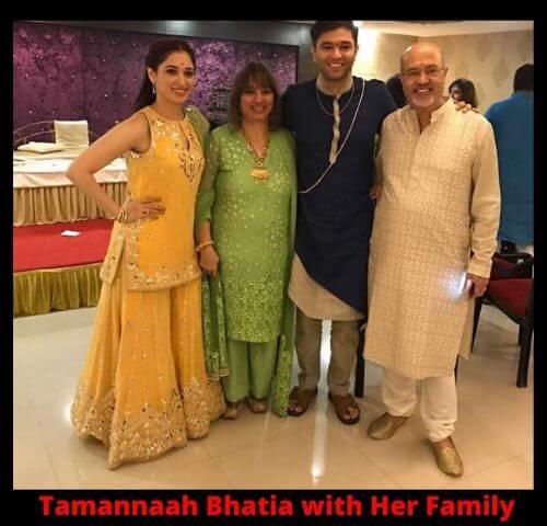 Tamannaah Bhatia with her Family