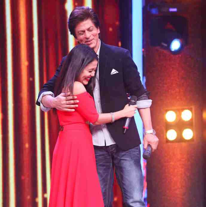 Neha Kakkar with Shah Rukh Khan