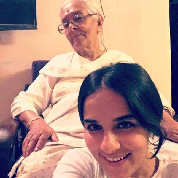 Angira Dhar with her grand mother