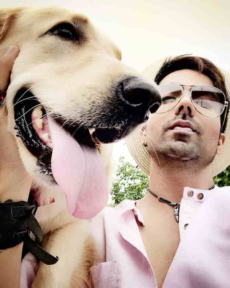 Hardy Sandhu pet dog