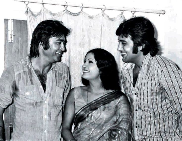 Leena Chandavarkar with Vinod Khanna And Sunil Dutt