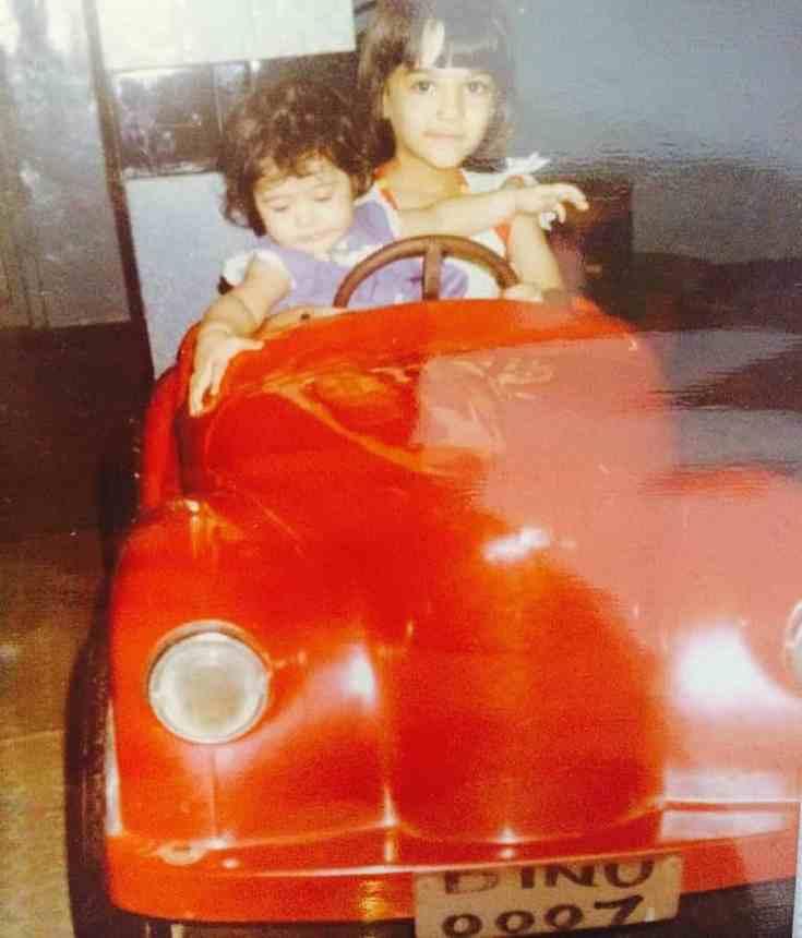 Nupur Sanon and Kriti Sanon in Child