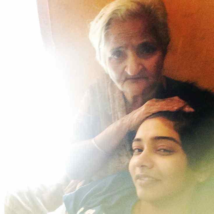 Wish Rathod with her Grandma