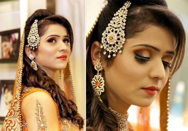indian bridal hairstyle 2014