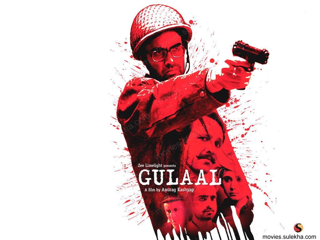 Gulaal poster is copied from The Shield