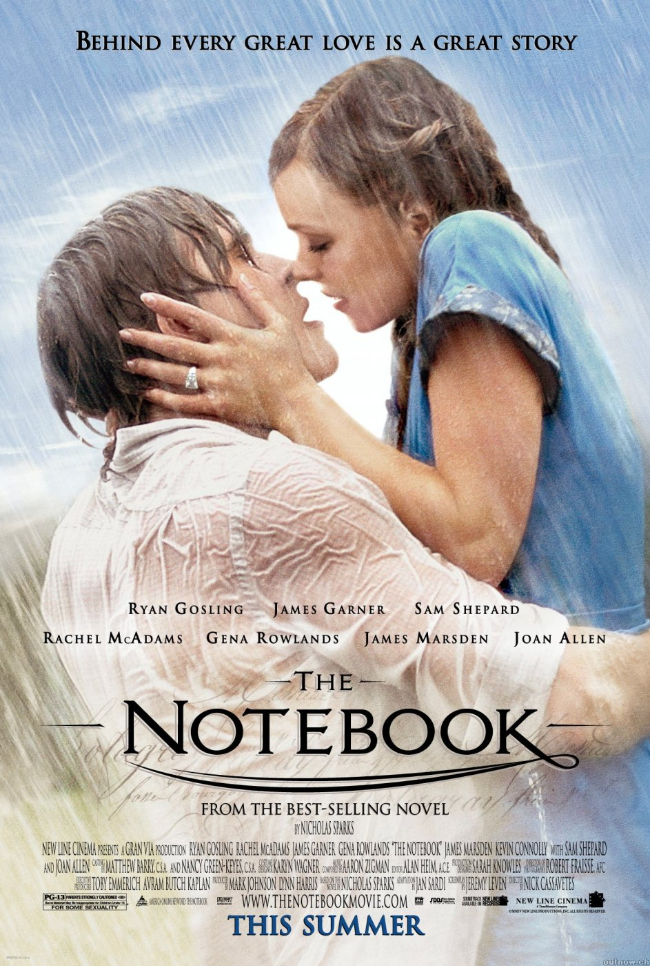 The Notebook  poster is copied by Kites