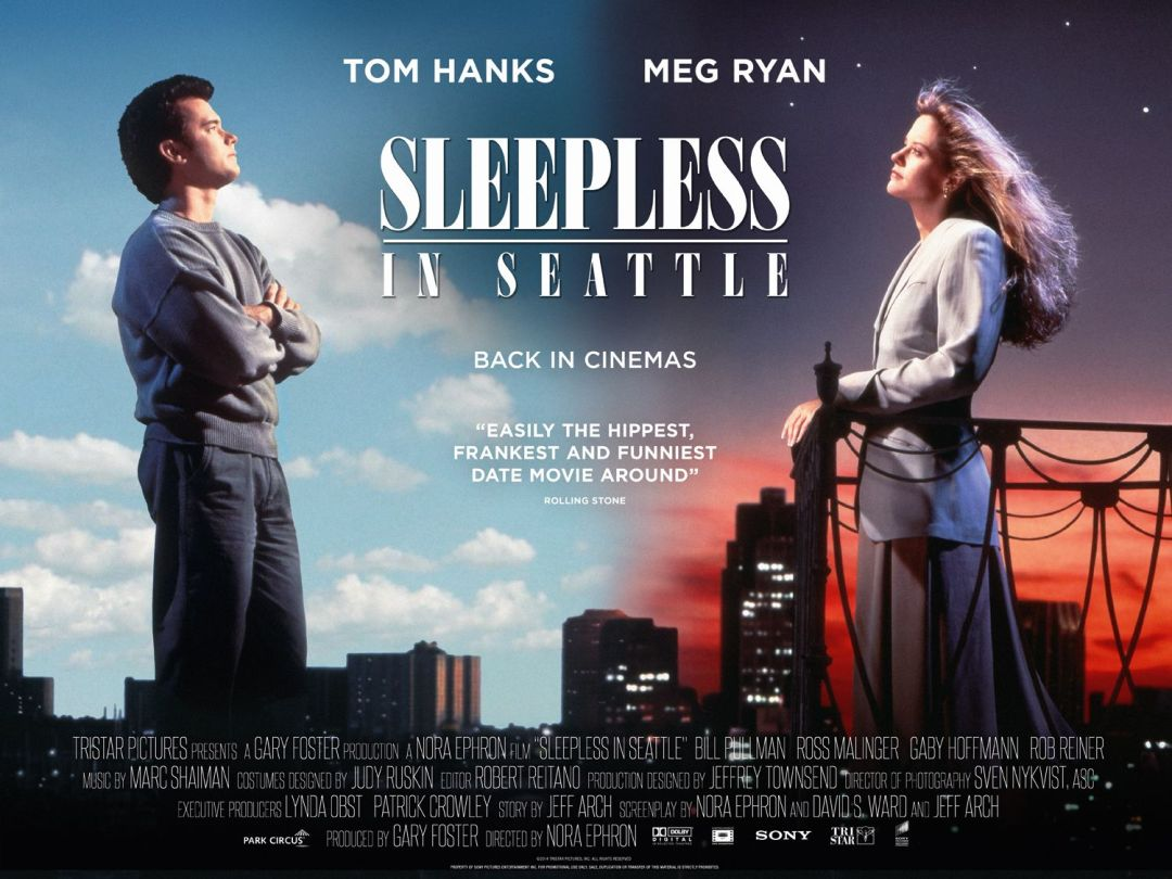 Sleepless in Seattle  poster is copied by Akele Hum Akele Tum