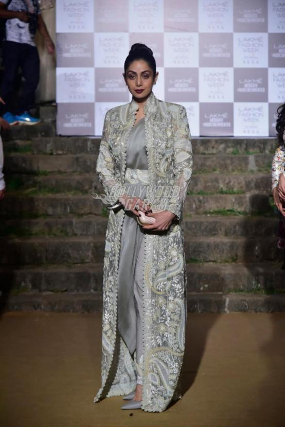 Sridevi spotted at LFW 2018