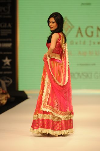 03 Amrita Rao wearing JASHN Lehenga at IIJW 2012,.
