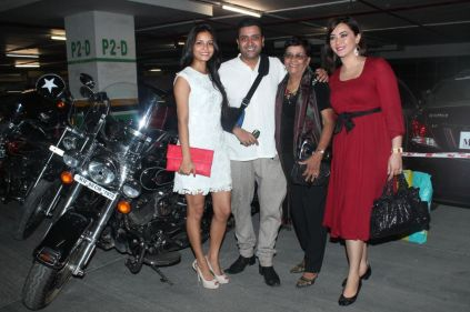 Junelia Agular (Ash's Wife), Ash Chandler with mom & Nausheen Ali Sardar at the premiere of 'Love, Wrinkle-Free' at PVR, Phoenix.