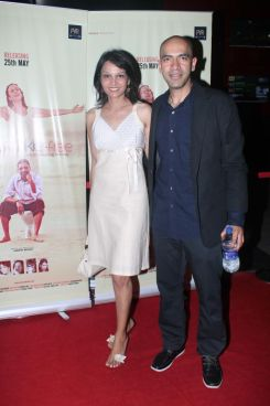 Seema Rahamani & Kamal Shah (Producer) at the premiere of 'Love, Wrinkle-Free' at PVR, Phoenix.
