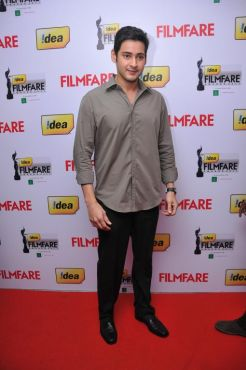 Mahesh Babu received The Best Actor Award (Telugu) for the Movie 'Dookudu' at the '59th !dea Filmfare Awards 2011' (South) on 8th July at Jawaharla