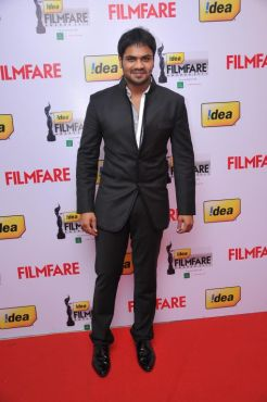 Manchu Manoj at the Red Carpet of '59th !dea Filmfare Awards 2011' (South) on 8th July at Jawaharlal Nehru indoor stadium, Chennai.