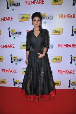 Nayantara received The Best Actress Award- Telugu (FEMALE) for the movie 'Sri Rama Rajyam' at the '59th !dea Filmfare Awards 2011' (South) on 8th Ju