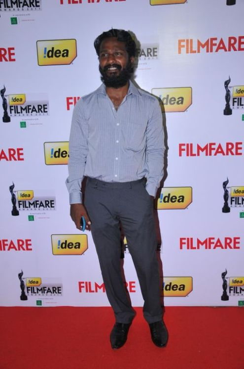 Vetrimaran received Award for Best Director for the Tamil film Aadukalam, at the '59th !dea Filmfare Awards 2011' (South) on 8th July at Jawaharlal