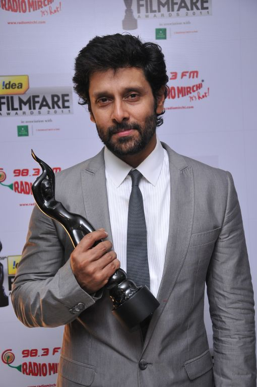 Vikram received Critic Awards Male at the '59th !dea Filmfare Awards 2011' (South) on 8th July at Jawaharlal Nehru indoor stadium, Chennai.