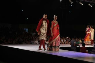 57 - Models with designer Asif Shah's collections in Indore at Sayaji Palace