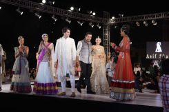 64 - Designer Asif Shah with Anchal Kumar at the Finale of Asif Shah's Fashion Show in Indore at Sayaji Palace.