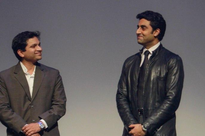 Girish Karkera (Editor, TopGear Magazine) & Abhishek Bachchan,'The TopGear India Magazine Awards 2012'