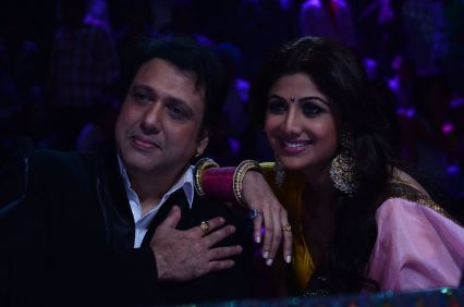 Govinda and Shilpa on Nach Baliye-5 set. Catch Nach Baliye-5 sat and sun @ 9pm on STAR Plus